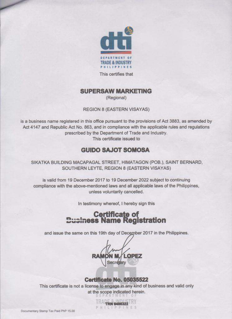 DTI Registration